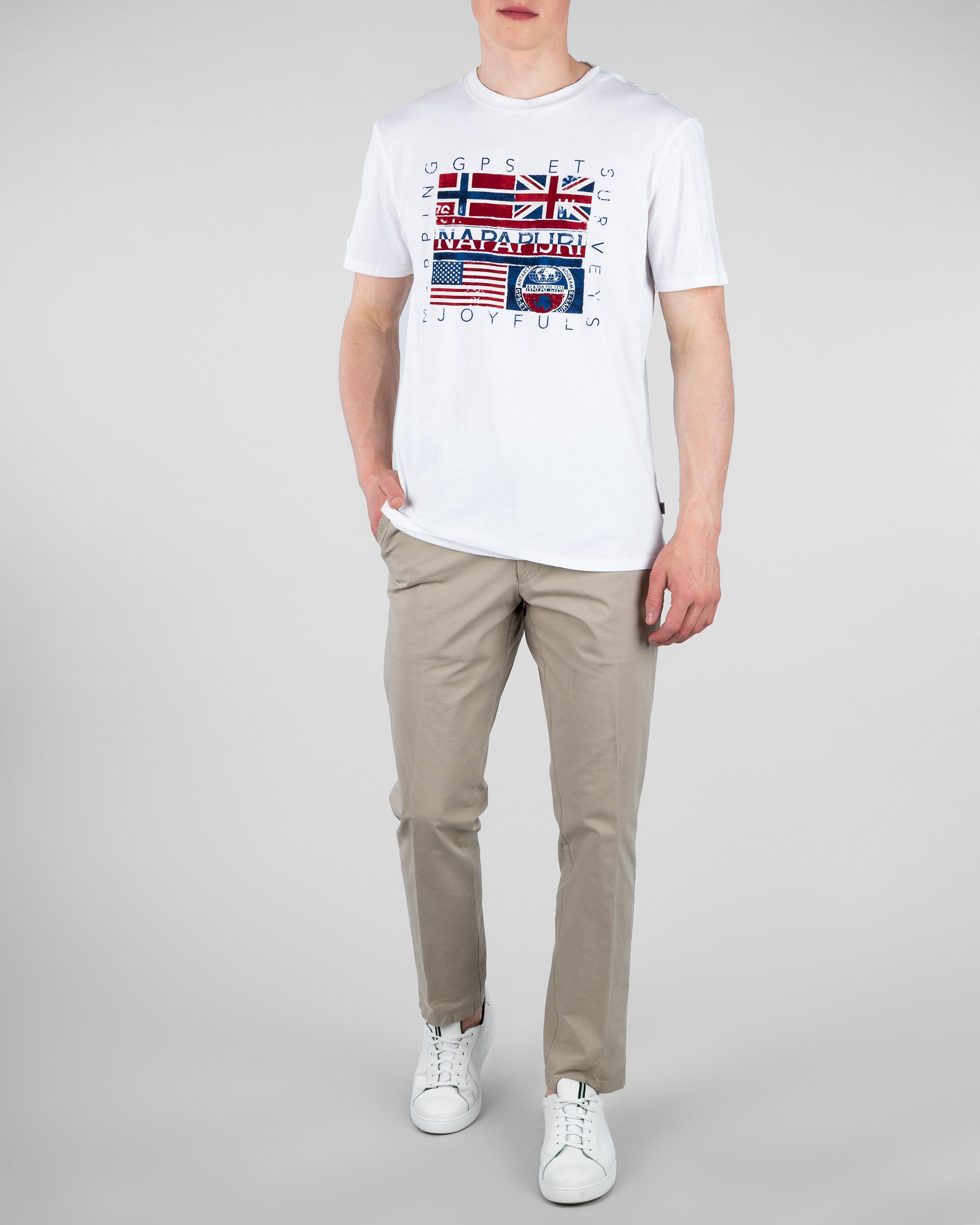 profesjonalna sprzedaż Cena obniżona podgląd T-Shirt Napapijri N0YIJD_2 biały - Royal Collection - Odziez ...
