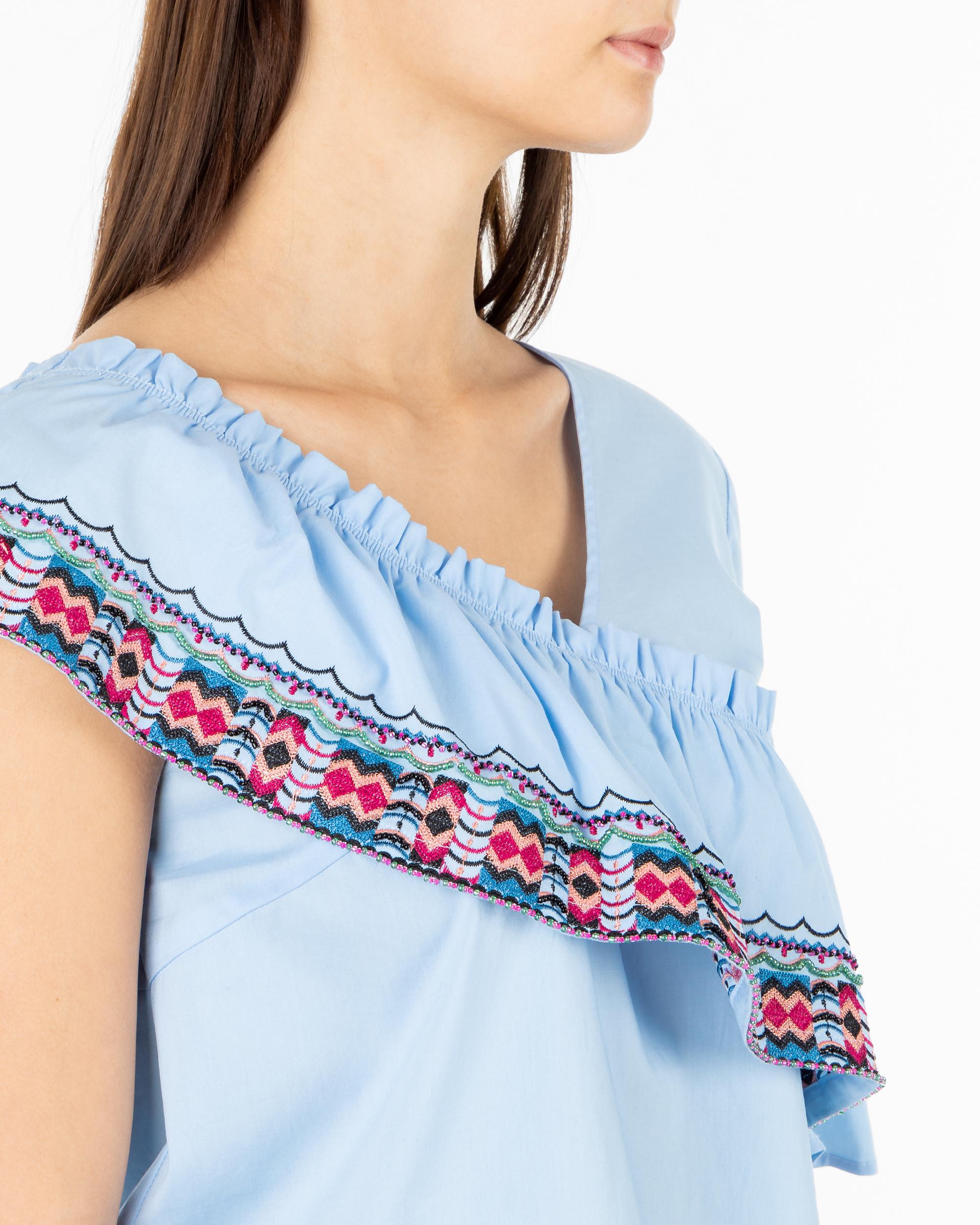 e0ec726365 Bluzka Trussardi Jeans 56C00194 1T002281 U140 niebieski - Royal Collection  - Odziez damska i męska