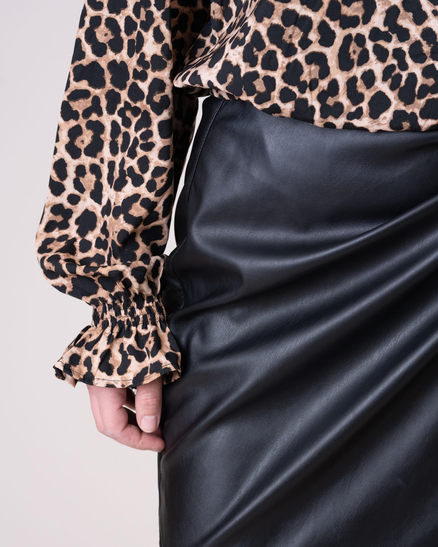 Spódnica Na Kd 1633 000028_BLACK czarny Royal Collection