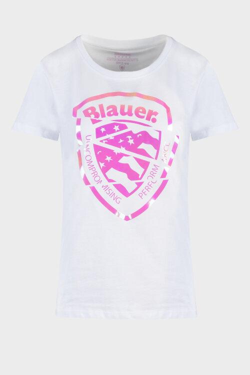 T-Shirt Blauer 20Sbldh02241_100 Biały Blauer 20SBLDH02241_100 biały
