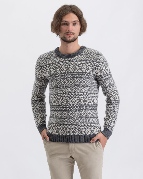 Sweter Knowledgecotton Apparel 80570_1073 szary
