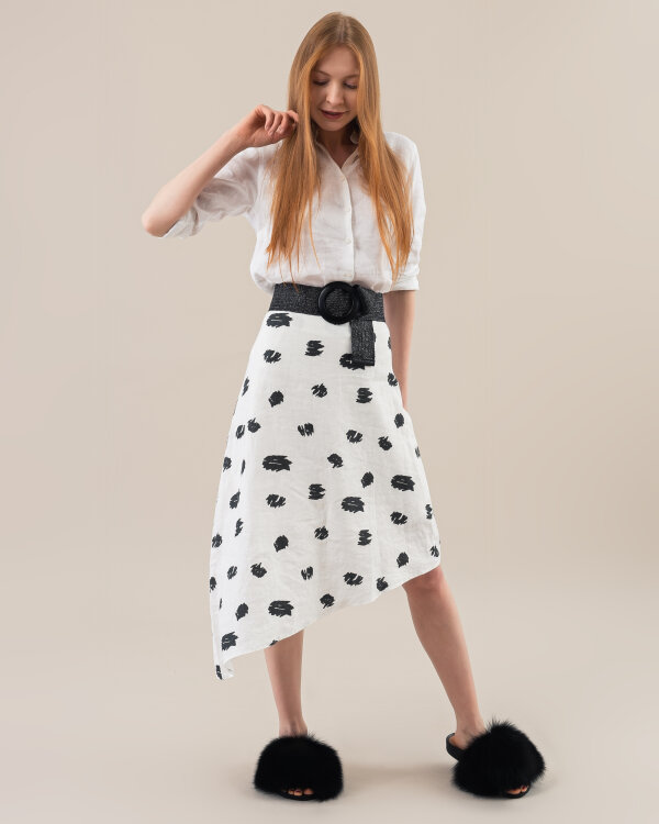 Spódnica Mexx 74109_MARSHMALLOW/BLACK biały
