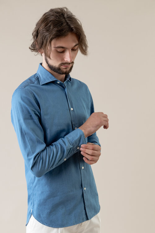 Koszula Borriello 8096/2_ niebieski