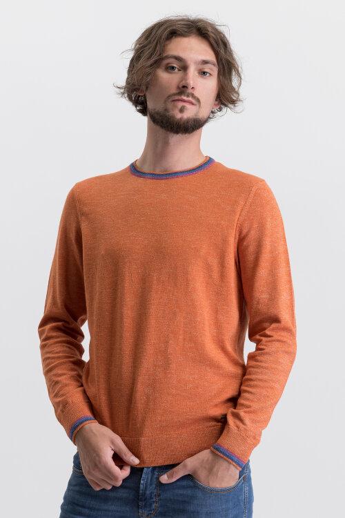 Sweter Bugatti 35514_4 7450_670 pomarańczowy