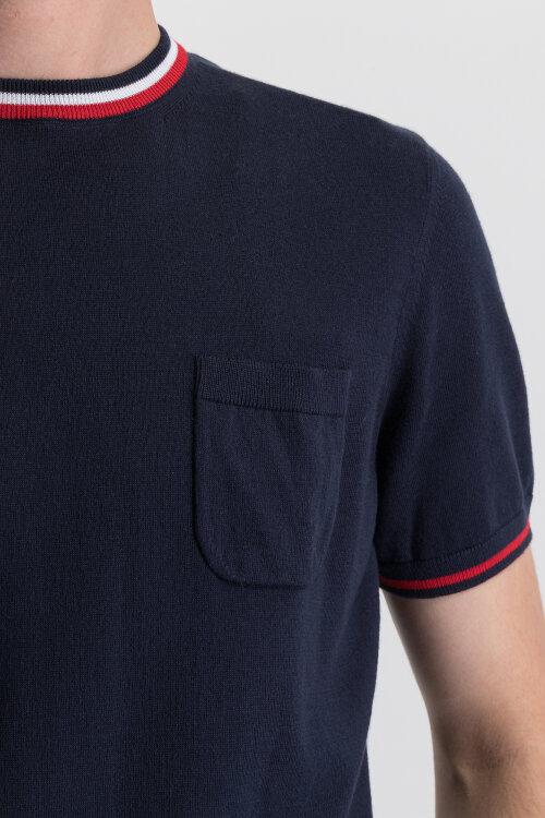 T-Shirt Bugatti 35581_1 7250_390 granatowy