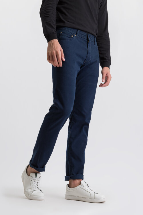 Spodnie Bugatti 36387_7 3470_390 granatowy