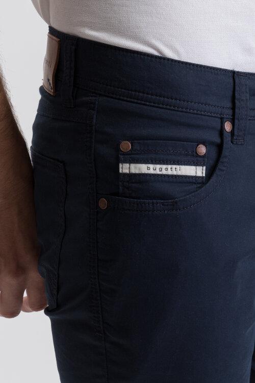 Spodnie Bugatti 36301_1 3910_390 granatowy