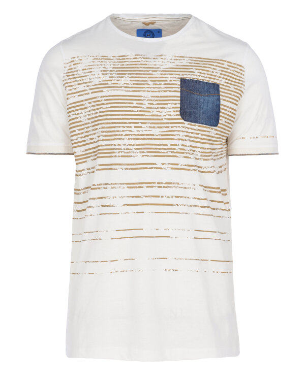 T-Shirt Campione 1097207_111130_40100 beżowy