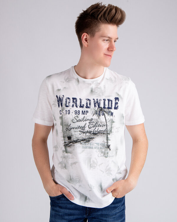 T-Shirt Campione 1097707_111130_40100 kremowy