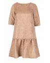 Sukienka Cv W-DRE-0377_BEIGE beżowy