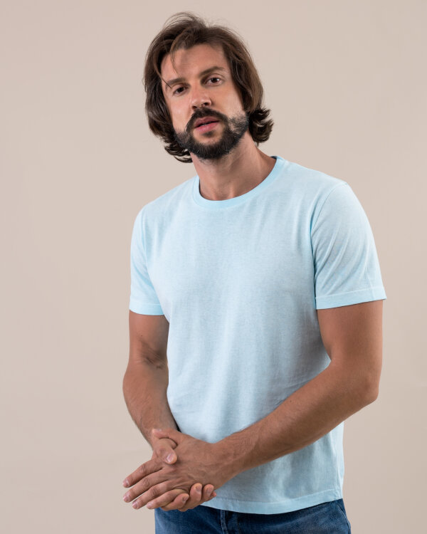 T-Shirt Dondup US288_JF0230C_807 niebieski