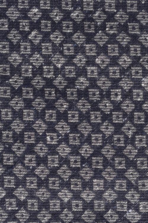 Krawat Eton A000_26151_27 granatowy