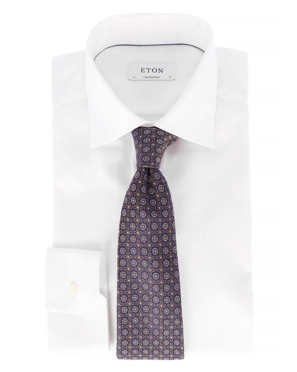 Krawat Eton A000_27041_23 brązowy