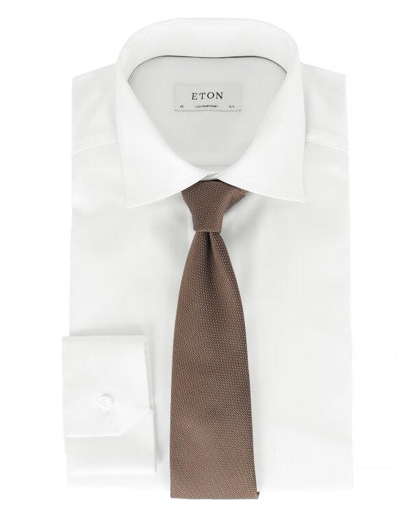 Krawat Eton A000_27777_37 brązowy