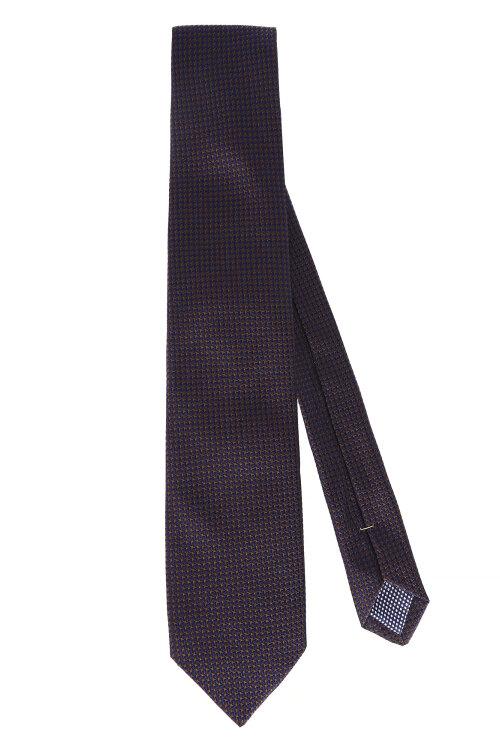 Krawat Eton A000_28070_37 granatowy