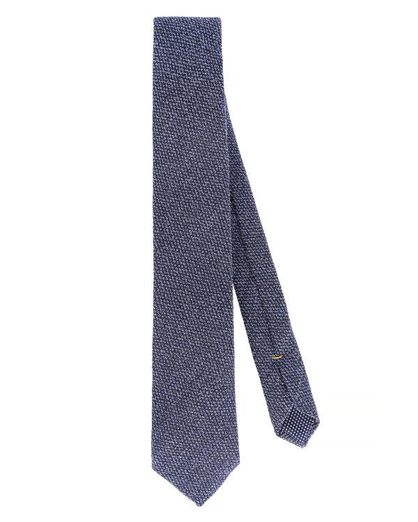 Krawat Eton A000_30459_27 granatowy