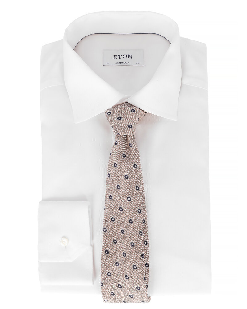 Krawat Eton A000_30460_35 beżowy - fot:3