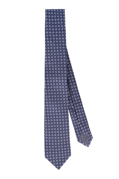 Krawat Eton A000_30754_27 granatowy