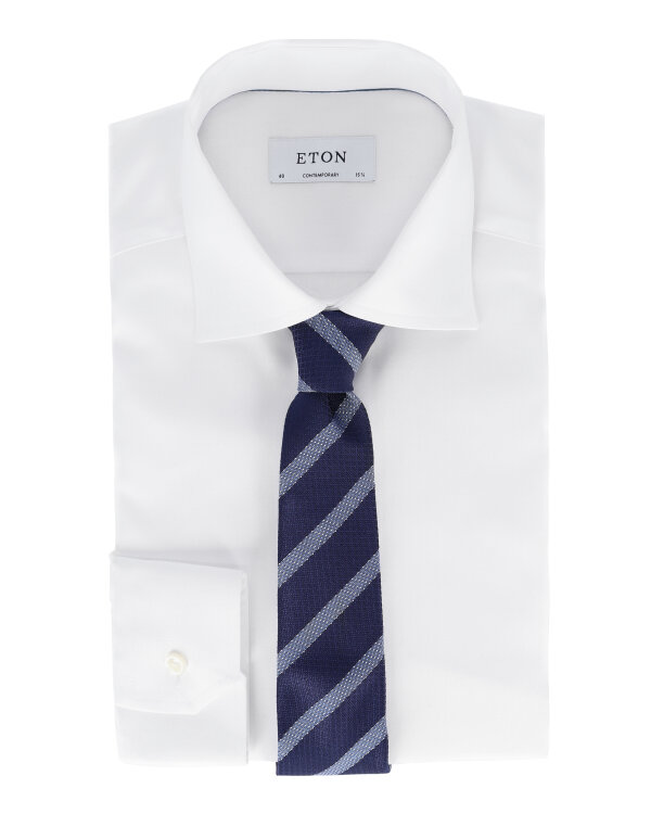 Krawat Eton A000_30776_29 granatowy