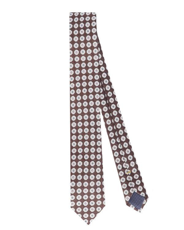 Krawat Eton A000_31472_37 brązowy