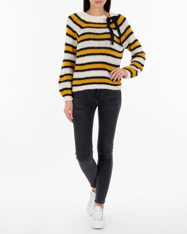 Sweter Fraternity JZ18_504_NERO/GIALLO żółty