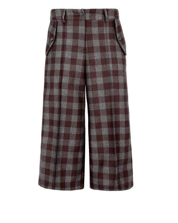 Spodnie Fraternity JZ18_W-TRO-0129_BROWN CHECK brązowy