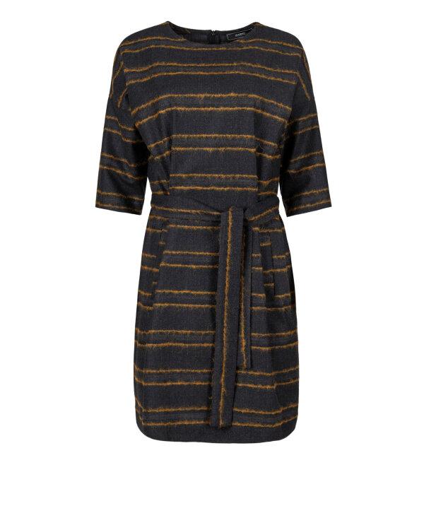 Sukienka Fraternity JZ18_W-DRE-0201_GREY/CAMEL ciemnoszary