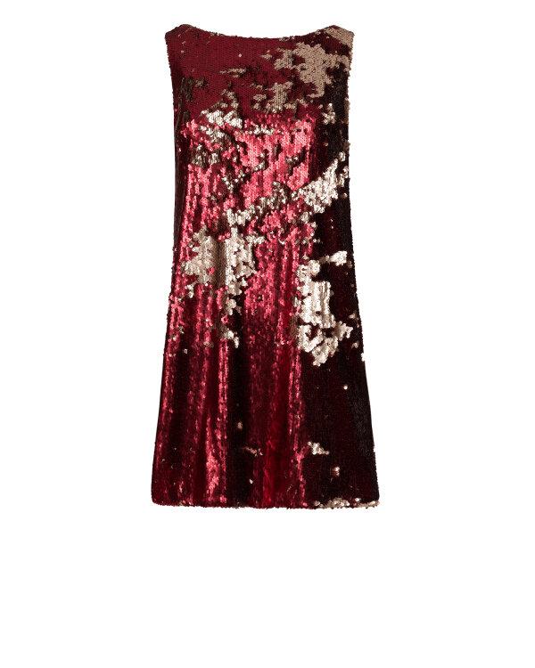 Sukienka Fraternity JZ18_W-DRE-0291_RED/GOLD bordowy