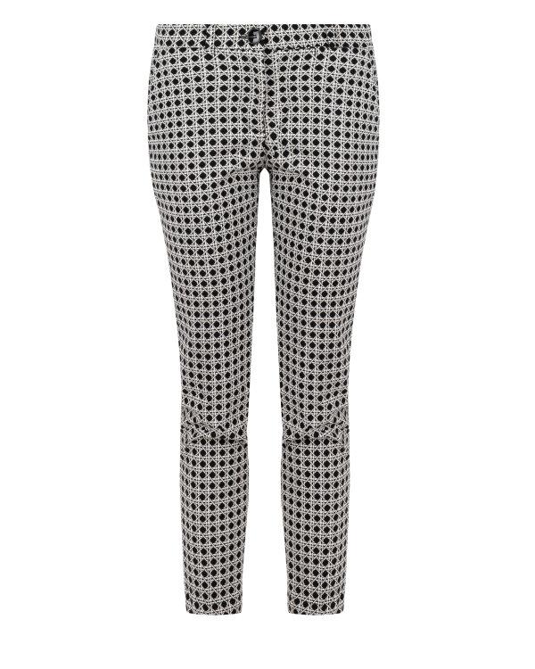Spodnie Fraternity JZ18_W-TRO-0123_BLACK/WHITE biały