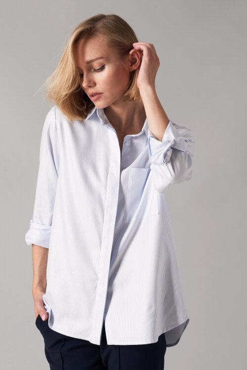 Koszula Fraternity NOS_W-SHI-0044 NOS_BLUE STRIPES biały