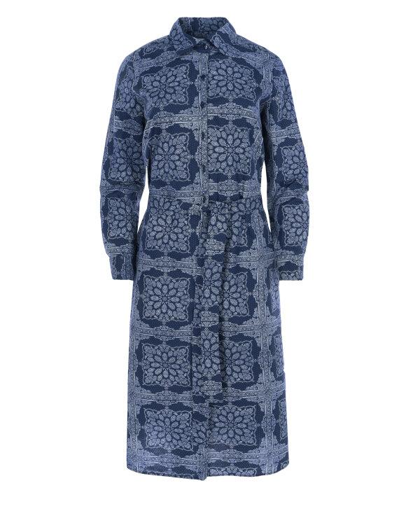 Sukienka Fraternity WL19_W-DRE-0409_NAVY PRINT granatowy