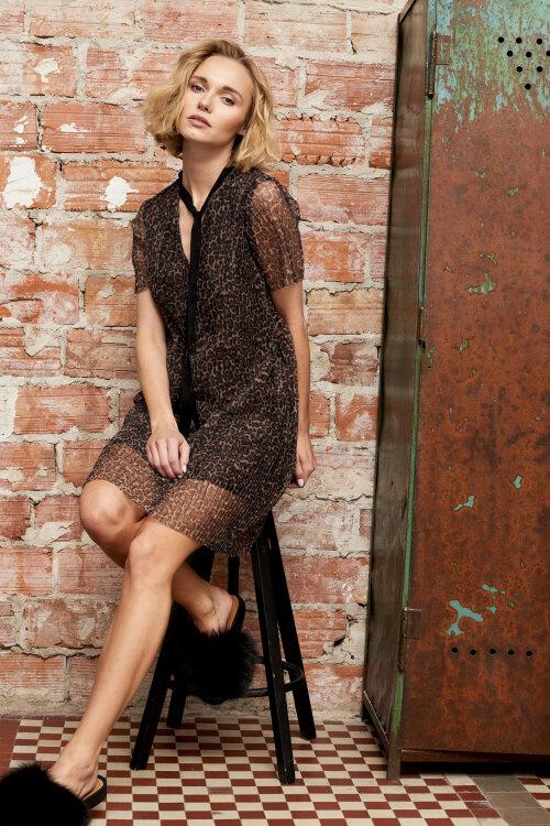 Sukienka Fraternity WL19_W-DRE-0414_PANTERA brązowy