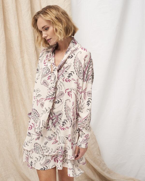 Sukienka Fraternity WL19_W-DRE-0388_ROSE PRINT kremowy