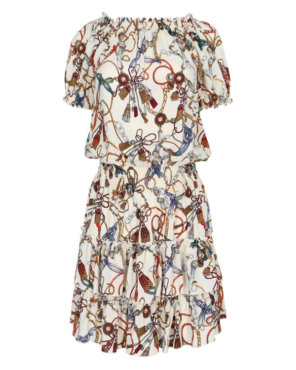 Sukienka Fraternity WL19_W-DRE-0342_COLORED CHAINS kremowy