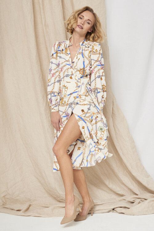 Sukienka Fraternity WL19_W-DRE-0395_GOLD CHAINS beżowy