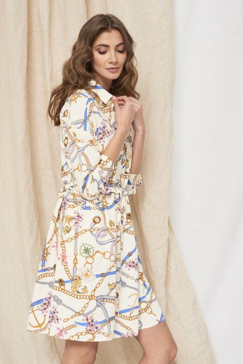 Sukienka Fraternity WL19_W-DRE-0416_GOLD CHAINS kremowy