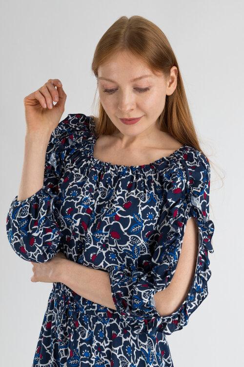 Sukienka Fraternity WL19_W-DRE-0408_WHITE FLOWERS wielobarwny