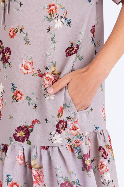 Sukienka Fraternity WL19_W-DRE-0351_FLOWERS wielobarwny