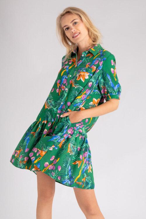 Sukienka Fraternity Wl19_W-Dre-0426_Jungle Flowers Zielony Fraternity WL19_W-DRE-0426_JUNGLE FLOWERS zielony