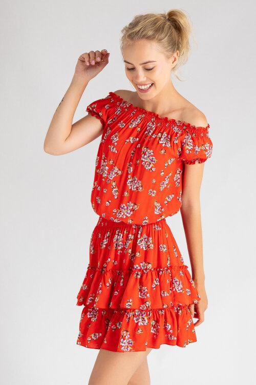 Sukienka Fraternity WL19_W-DRE-0342_ORANGE pomarańczowy