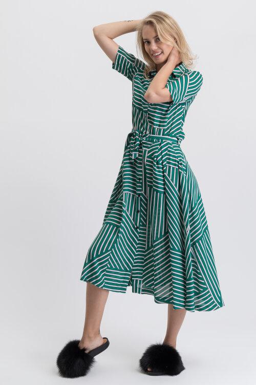 Sukienka Fraternity WL19_W-DRE-0181_GREEN/WHITE zielony