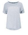 T-Shirt Fraternity NOS_W-TSH-0046 NOS_LIGHT GREY/R jasnoszary