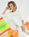 Spodnie Fraternity WL19_W-TRO-0057_OFF WHITE/MINT biały