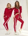 Bluza Fraternity WL19_W-TSH-0041_RED/OFF WHITE czerwony