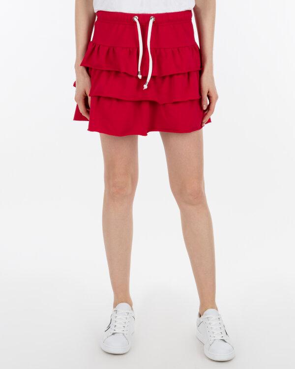 Spódnica Fraternity WL19_W-SKI-0050_RED/OFF WHITE czerwony