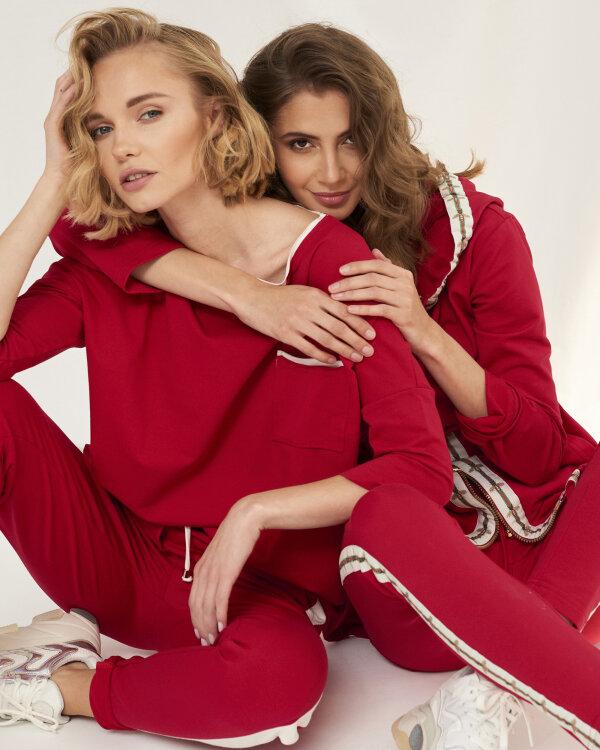 Spodnie Fraternity WL19_W-TRO-0057_RED/OFF WHITE czerwony