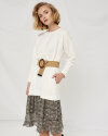 Sukienka Fraternity WL19_W-DRE-0413 _CREAM/ANIMAL kremowy