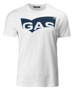 T-Shirt Gas 96689_SHIRO/R LOGO_0001 biały