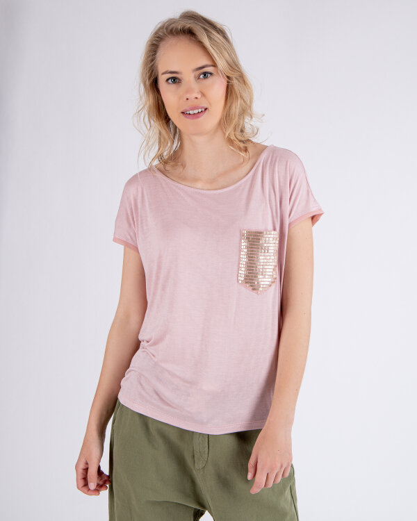 T-Shirt Gas 96795_YAELA RS SEQUINS_3837 różowy