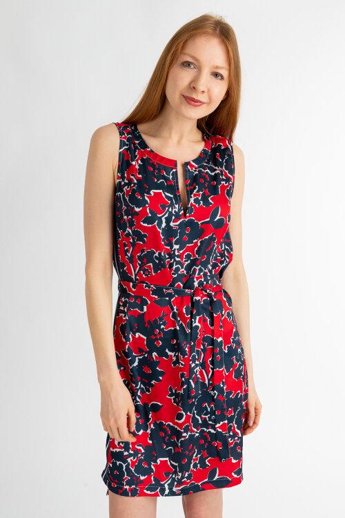 Sukienka Gas 96827_POLY MARINE FLOWERS_1383 czerwony
